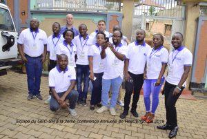 photo de famille de toute l'equipe du GEC-SH a la deuxieme conference Annuelle du Reseau des chercheurs congolais sur la paix(ResCongo) de 2019 a Bukavu